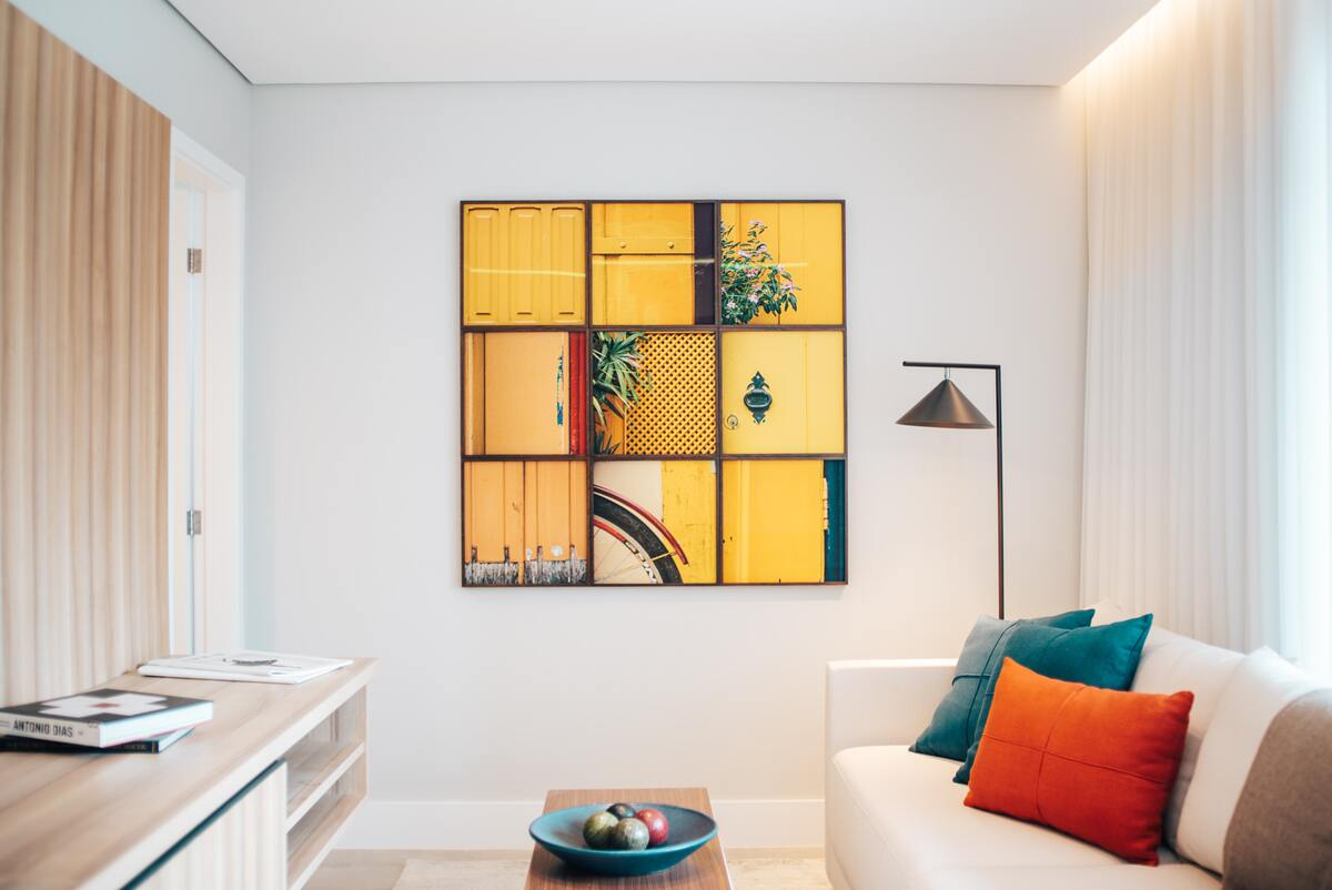 Apartment Living with Wall Frames