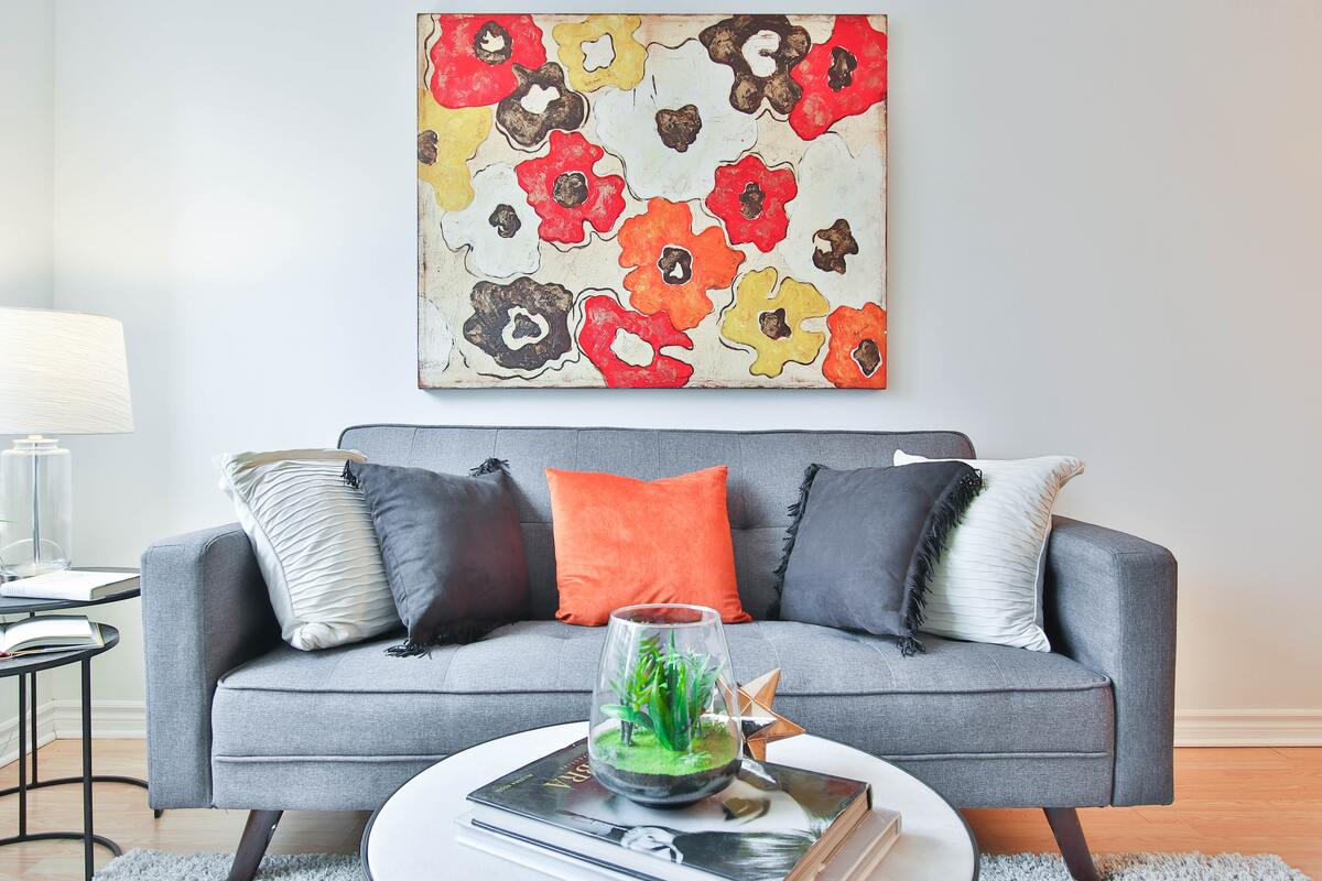 Living Room with Birght Colours