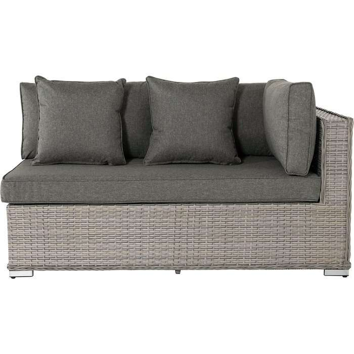 Rattan Garden Day Bed Sofa Left As You Sit in Grey