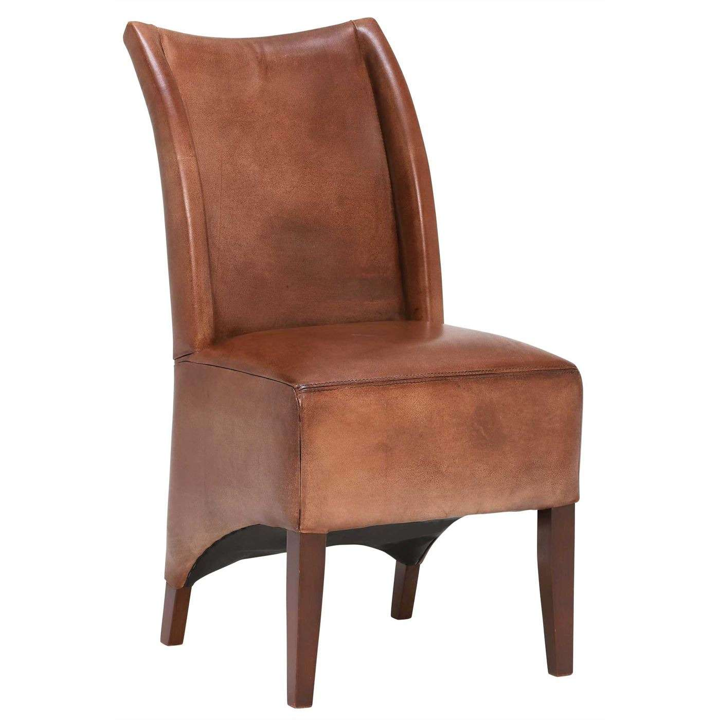 Blythe Vintage Leather Chair, Brown