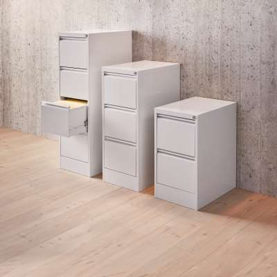 A4 filing cabinet INCLUDE, 4 drawers, 415x630x1320 mm, grey