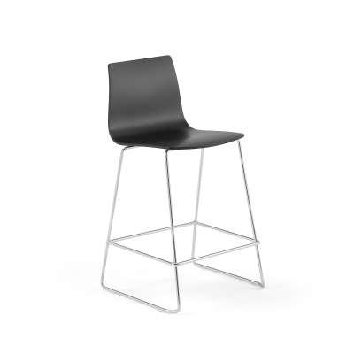 Bar chair FILIP, H 630 mm, chrome, black