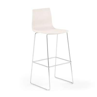 Bar chair FILIP, H 830 mm, chrome, white