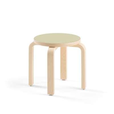 Children's stool DANTE, green laminate, H 310 mm