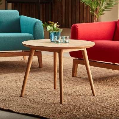 Coffee table CITY, Ø 700 mm, oak