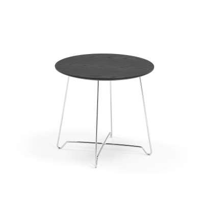 Coffee table IRIS, Ø500 x H 460mm, chrome, black