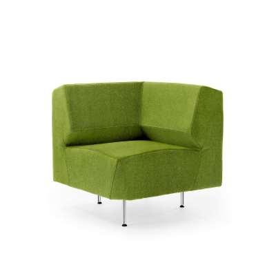 Corner module sofa ALEX, Medley fabric, lime green