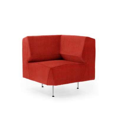 Corner module sofa ALEX, Repetto fabric, orange