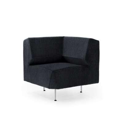 Corner module sofa ALEX, Zone fabric, black