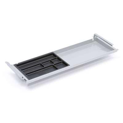 Desk drawer, 871x260x32 mm, alu grey