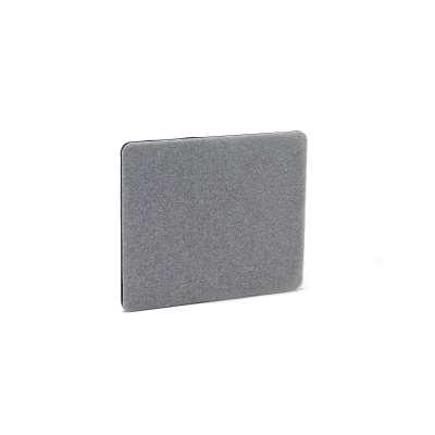 Desk screen ZIP CALM, 800x650 mm, grey with black zipper