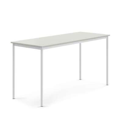 Desk SONITUS, 1800x700x900 mm, grey laminate, white
