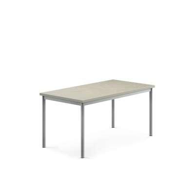 Desk SONITUS, 1200x700x600 mm, grey linoleum, alu grey