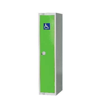 Disability locker, 1 door, 1370x300x450 mm, green