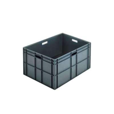 Euro box, solid, 800x600x412 mm, 162 L, grey