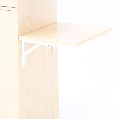 Foldable side table, R/H, birch