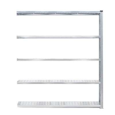 Galvanised shelving TRANSFORM, add-on unit, 5 shelves, 2500x1800x320 mm