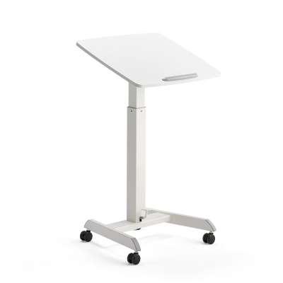 Height adjustable desk ATTUNE, 600x520 mm, white