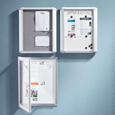 Lockable display cabinet HAZEL, for indoor use, 690x595x57 mm