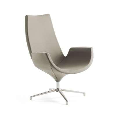 Lounge chair ENJOY, high back, beige