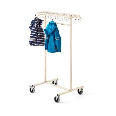 Mobile coat rack for children ORKAN, beige