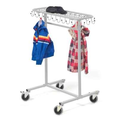 Mobile coat rack for toddlers ORKAN, grey