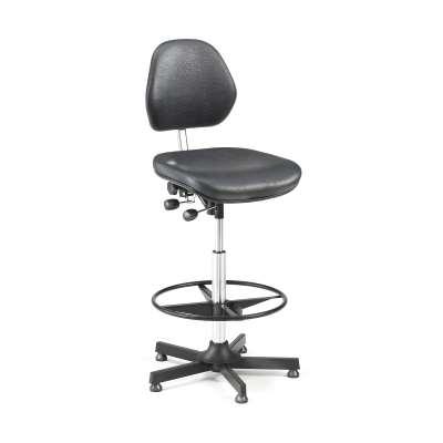 Multi-purpose industrial chair AUGUSTA, H 650-900 mm, black vinyl