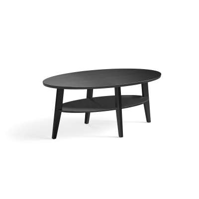 Oak coffee table HOLLY, 1200x700x500 mm, black stained
