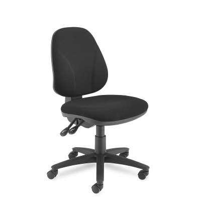 Office chair GUILDFORD, high back, charcoal fabric