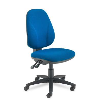 Office chair GUILDFORD, high back maxi, blue fabric