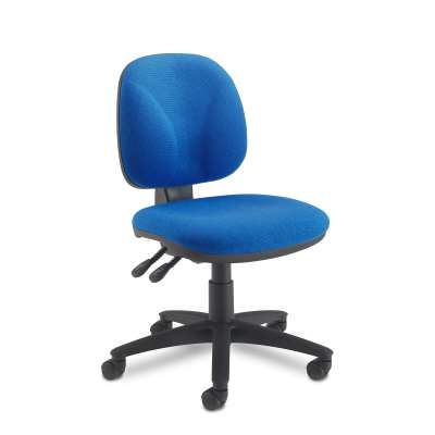 Office chair GUILDFORD, low back, blue fabric