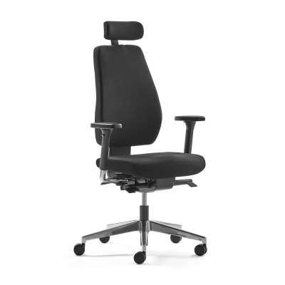 Office chair WATFORD, black fabric