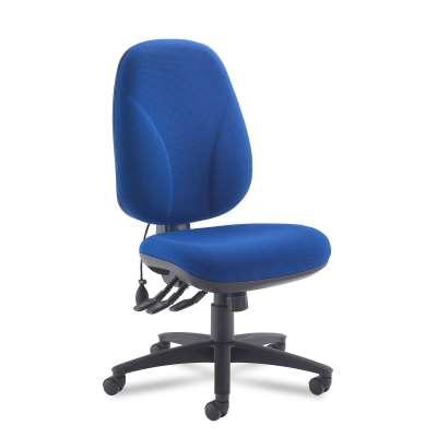 Office chair with lumbar pump TONGHAM, blue