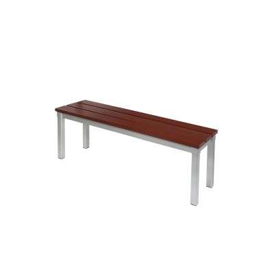 Outdoor bench ENVIRO, 1050x330x430 mm, mahogany, silver