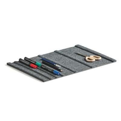 Pen tray for drawer, dark grey