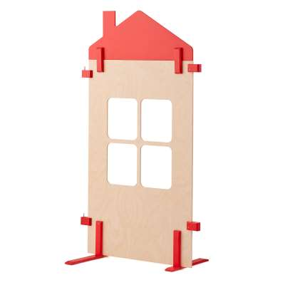 Play city room dividers, with large window, 750x1480 mm
