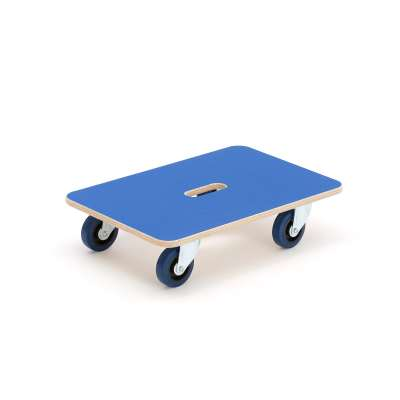 Plywood dolly with anti-slip platform, 600x400 mm, 400 kg
