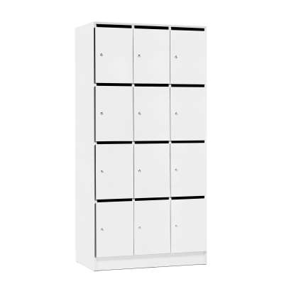 Post/storage cabinet COLLECT, 12 boxes, 1935x960x410 mm, white