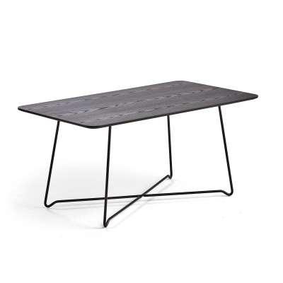 Rectangular coffee table IRIS, 1100 x 600 x H 510mm, black, black oak