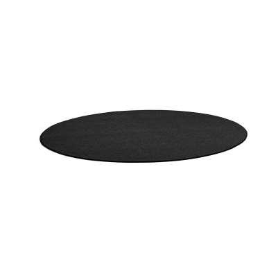 Round rug ADAM, Ø 3000 mm, dark grey