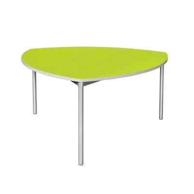 School dining table ENVIRO, shield, 1500x1500x710 mm, lime, silver