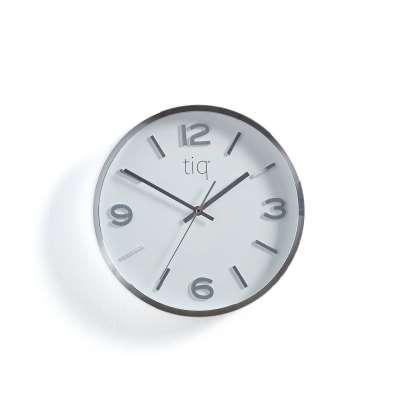 Silent wall clock, Ø 300 mm, silver