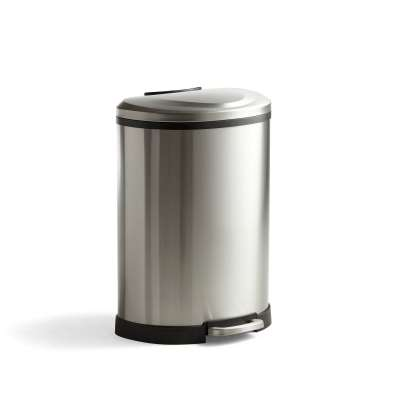 Stainless steel pedal bin with soft-close lid MAXWELL, 50 L