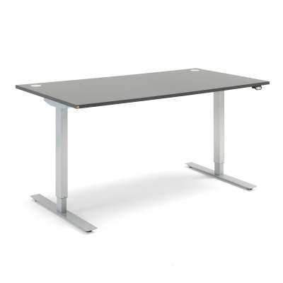 Standing desk FLEXUS, straight, 1600x800 mm, grey laminate