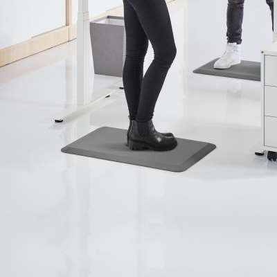 Standing desk mat STEP, 500x750 mm, grey