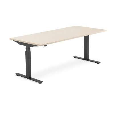 Standing desk MODULUS, 1800x800 mm, black frame, birch
