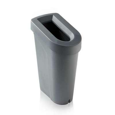 uBin office recycling bin with lid, grey