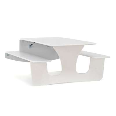Wall mounted foldaway table LUCAS, 1200x950x720 mm, white, grey laminate