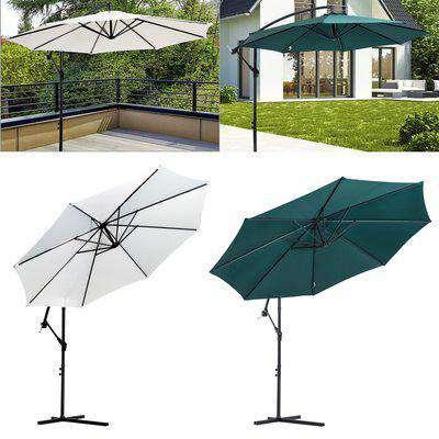 Cantilever Umbrella Parasol Hanging Banana Steel 2 Colours 3(m) Garden