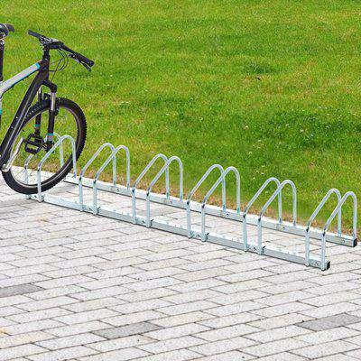 HOMCOM Bike Stand Parking Rack Floor or Wall Mount Bicycle Cycle Storage Locking Stand